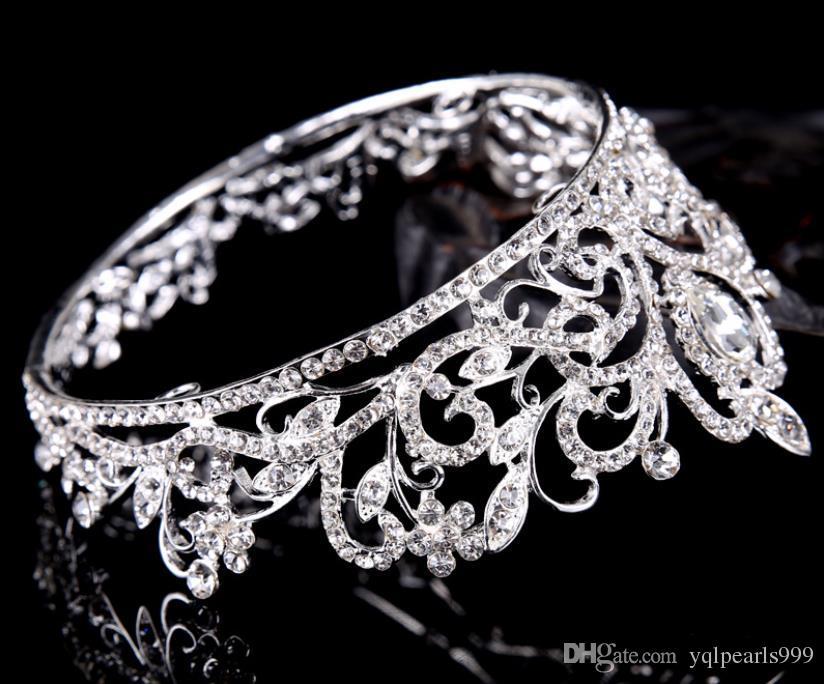 Gelin takı, gümüş çember, elmas, taç prenses gelin taç düğün aksesuarları