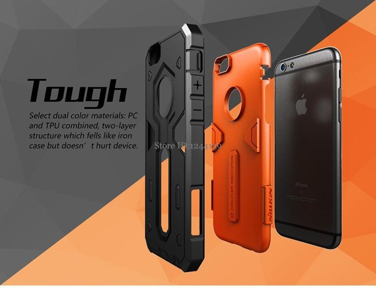 official photos 10fb4 78420 For Iphone 6 Iphone 6s Plus Case Cover Nillkin Defender 2 Luxury Tpu Pc  Strong Hybrid Phone Capa Cases For Apple Iphone 6 Plus