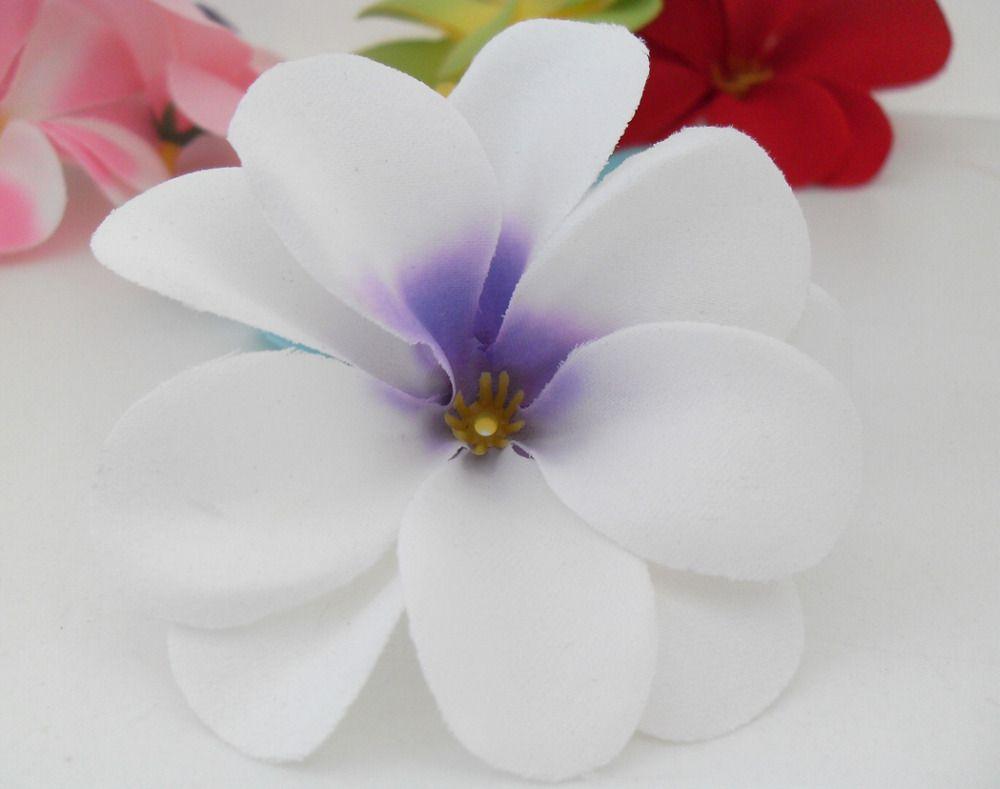 2018 Bedroom White Artificial Hawaiian Plumeria Frangipani Silk