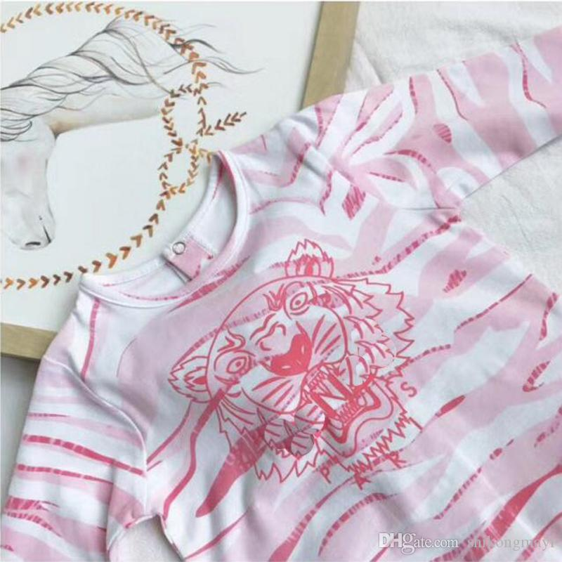Einzelhandel Mode Baby Pyjamas Nachtwäsche Babykleidung Kinder Kleidung für Mädchen Strampler 100% Baumwolle neugeborenen Babyspielanzug