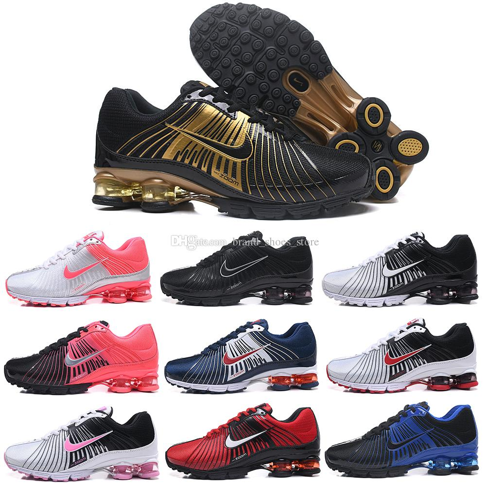 2018 New Arrival Shox Deliver 625 Air Cushion Running Shoes Zapatos Mens  White Black Red Gold Navy Pink Athletic Sports Sneakers For Women Designer  Sneakers ... 7844ec63c