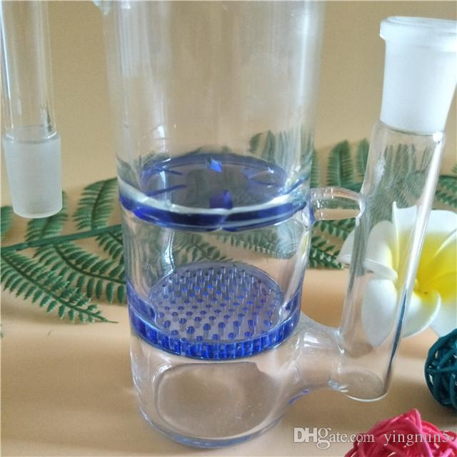 14mm & 18.8mm Joint ash catcher with honey comb and turbine percs for glass bong glass smoking pipe water pipe bongsAC-005
