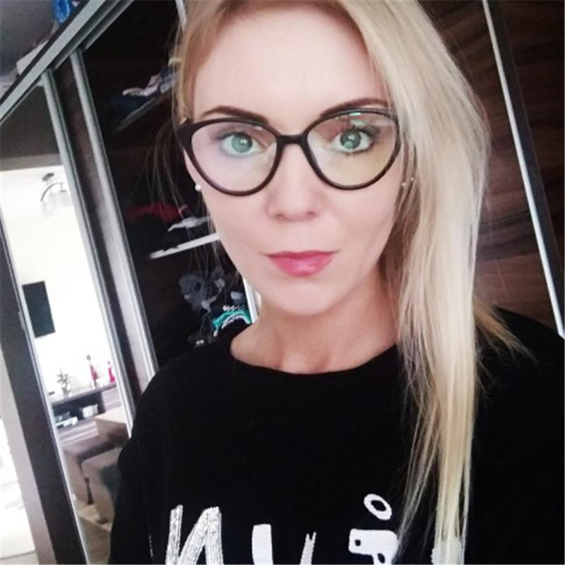 293955acef 2019 Fashion Transparent Spectacle Frame Cat Eye Glasses Frames Clear Lens Women  Brand Black Eyewear Optical Vintage Ladies Eyeglass From Value222