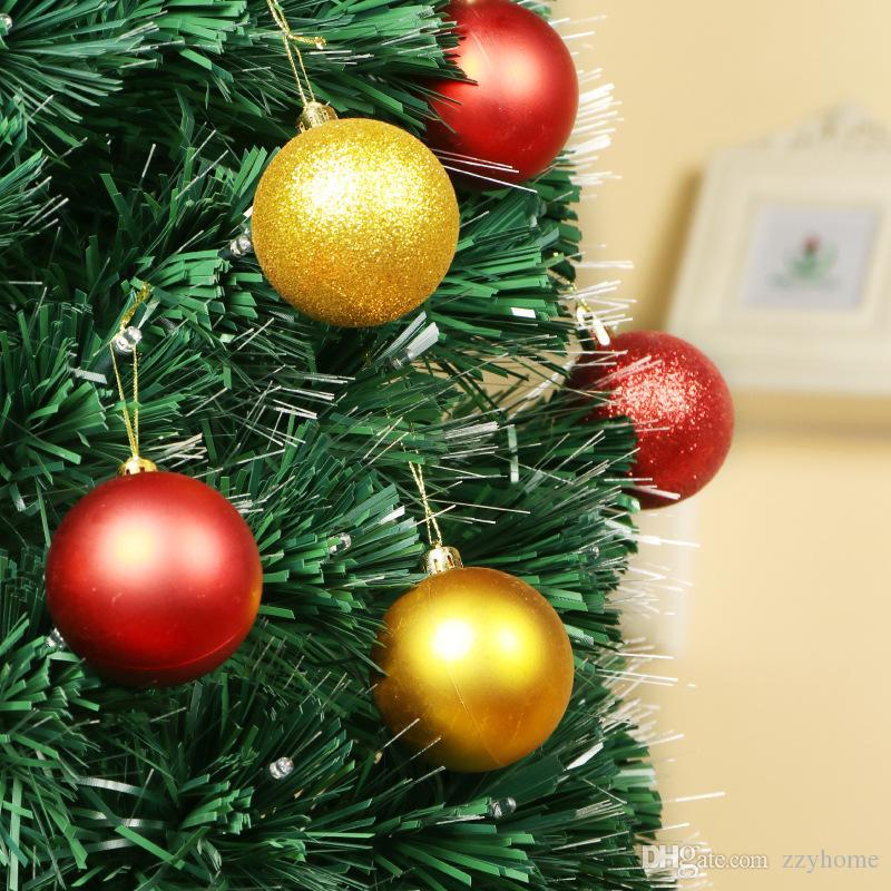 3cm 24pcs Set Christmas Ball Trees Decorations Ball Colorful Plastic Plating Christmas Ornament Tree Ornaments Hot Sale