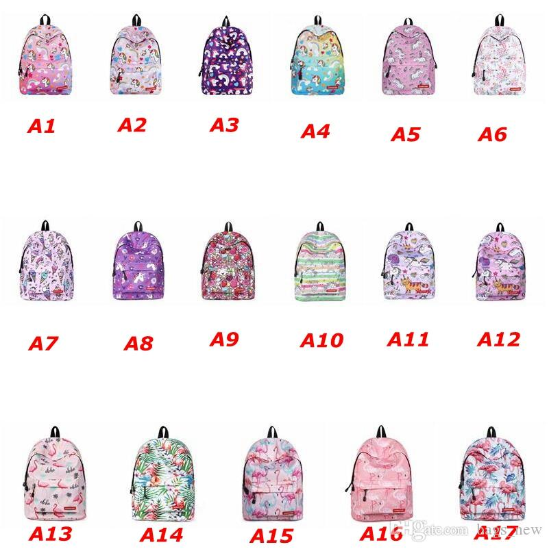 2c9932fd2779e Cute Flamingo Unicorn Print Backpack Women Casual Female Bagpack Large  Capacity School Bags For Girls College Student Bags Cool Backpacks Travel  Backpack ...