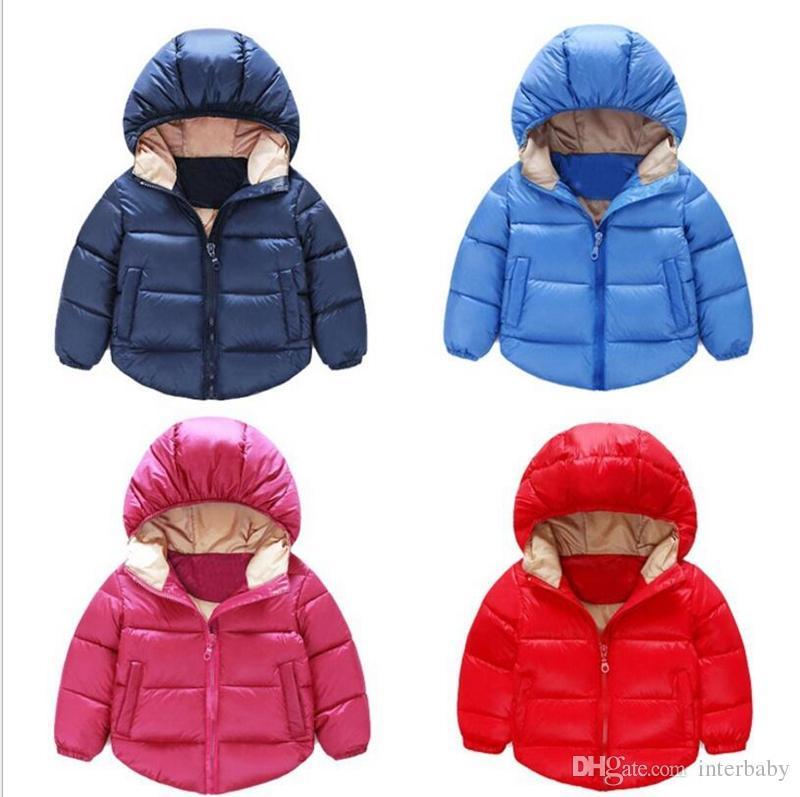 29d47fcc58639f Kids Down Coat Baby Winter Hooded Down Jacket Ski Outerwear Boys Girls Long  Sleeve Warm Overcoat Designer Cute Children Clothes 3 8T YL648 Junior Down  Coats ...