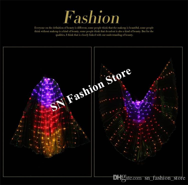 BCful light led cloak ballroom dance led costume luminous glowing wings led stage wear dress Belly dance singer show dj performance