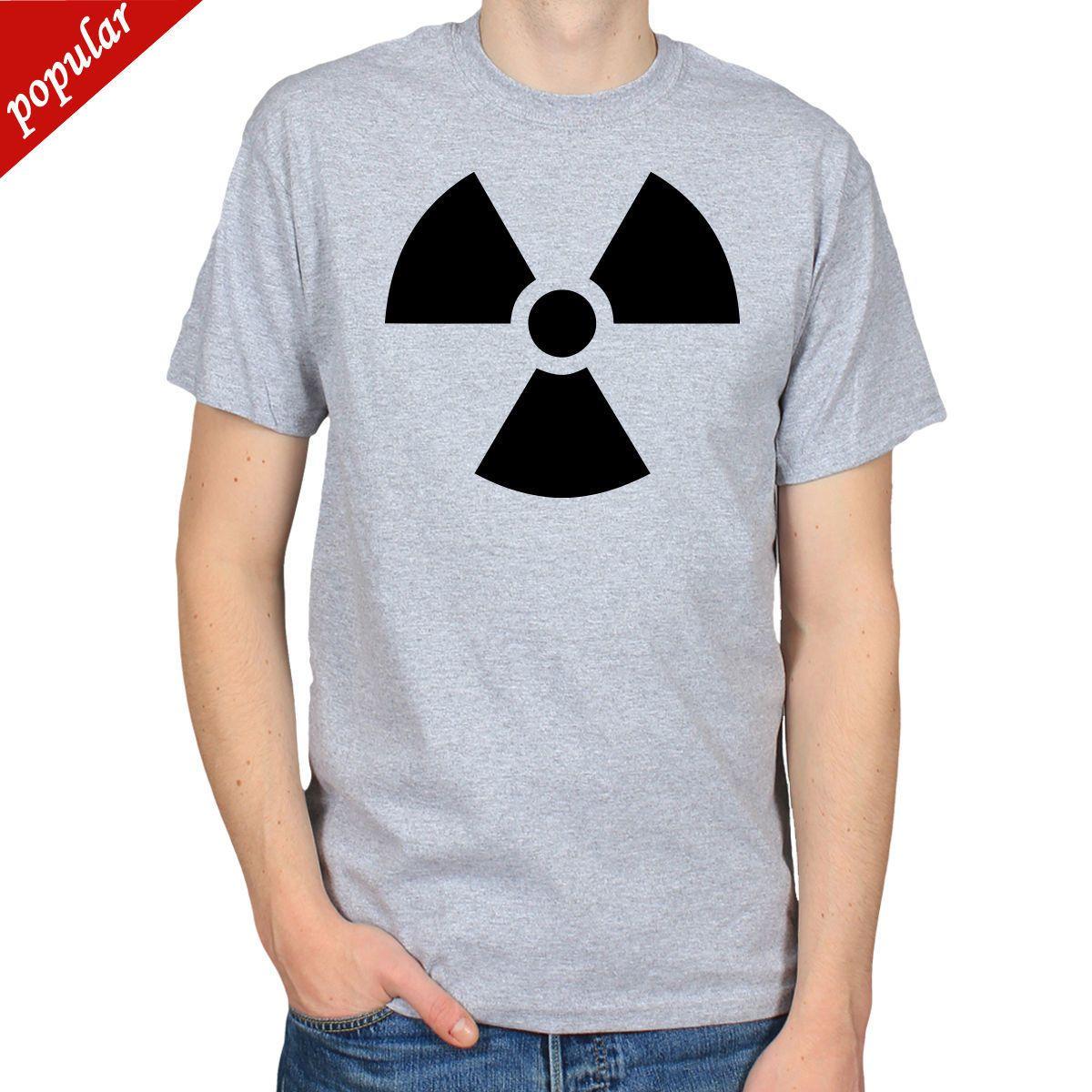 Nuclear Hazard Symbol Atom War Radiation Mens T Shirt Tee T Shirt
