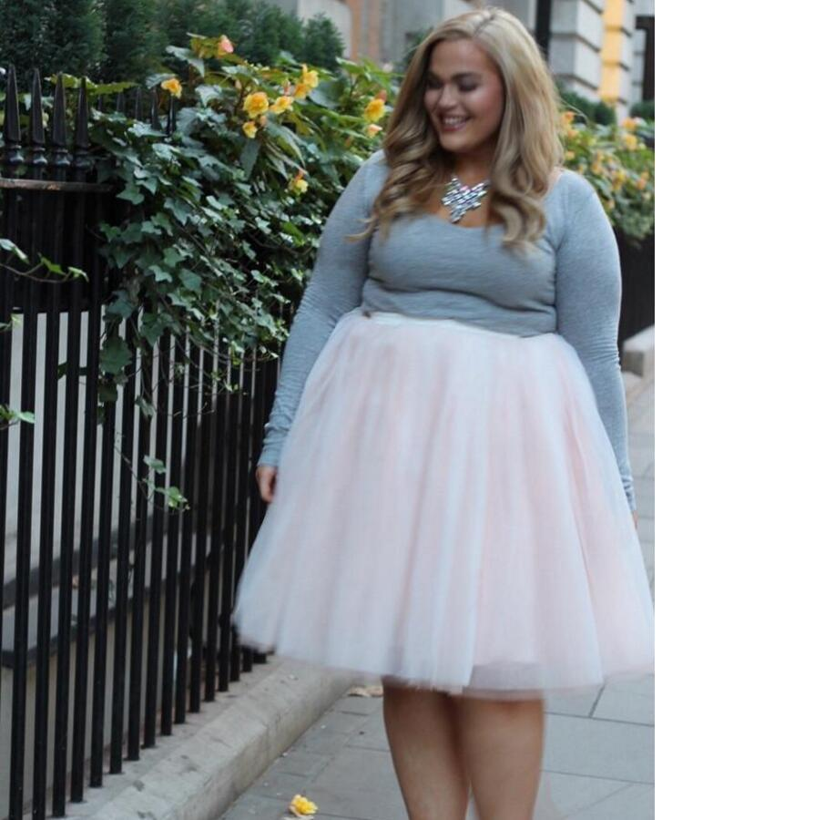 993adc3d70bfa 2019 Beautiful Plus Size Woman Pink Tutu Skirt Custom Made Knee Length  Tulle Skirt High Quality New Style Christmas Party Waist From Baica