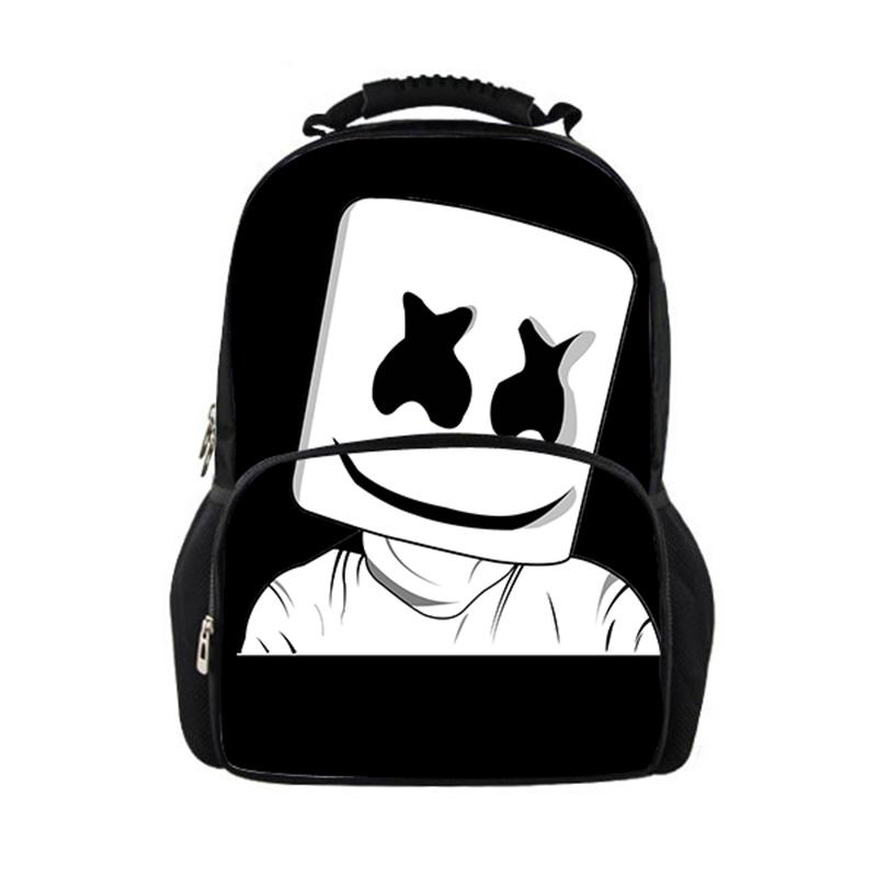 4b60c6a22103 Bag School Girl Marshmello School Bags Boys Girls Backpacks Supplies  Schoolbag Satchel Girls Kids Back Pack Mask Dj Gregory Backpacks Army  Backpack From ...