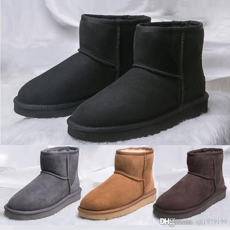 bde3684e15a UGS Crystal Button WGG winter Australia Classic snow Boots fashion UGGS tall shoes real leather Bailey Bowknot women bow Knee sneakers