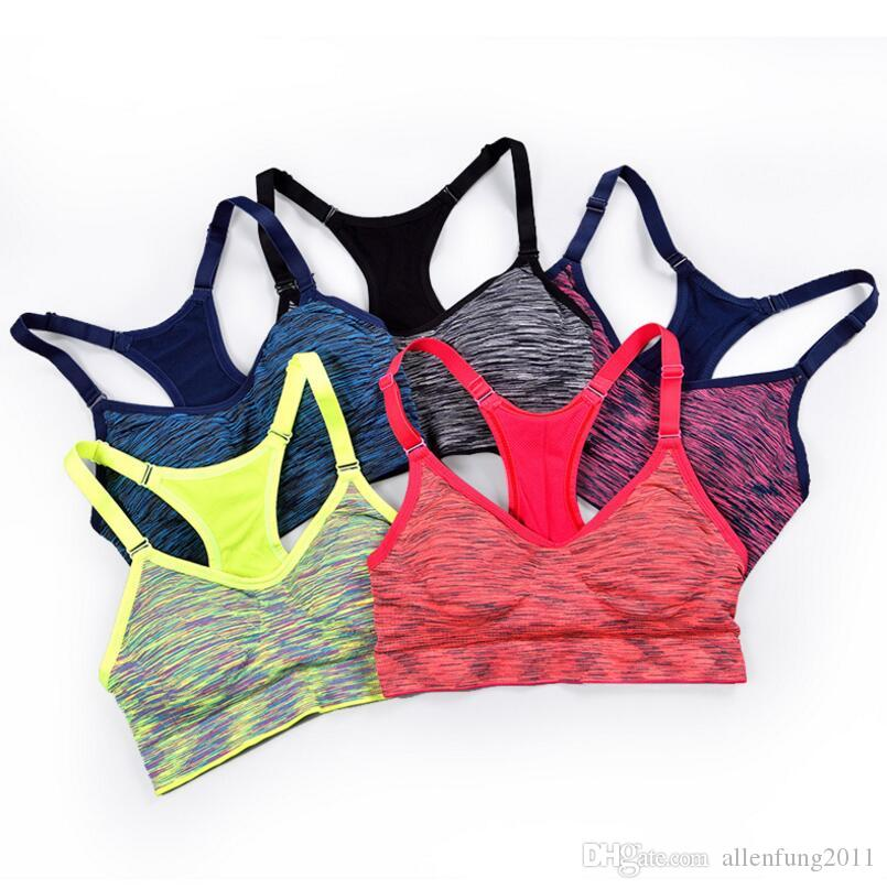 8e425b66b4760 2019 Bright Colored Women Sports Bra Seamless Japanese Sleep Sports  Underwear Shockproof Lady Yoga Breathable Adjustable Sports Vest From  Allenfung2011