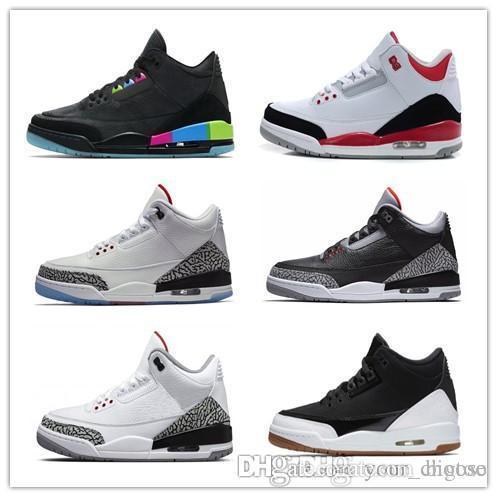 960ddd4b651 2018 2018 Shoes 3 White Black Cement Infrared 23 Basketball Shoes Sneakers  For Men Designer 2017 Gs Wolf Grey Advanced Quality Version Size 8 13 From  Bigtoo ...