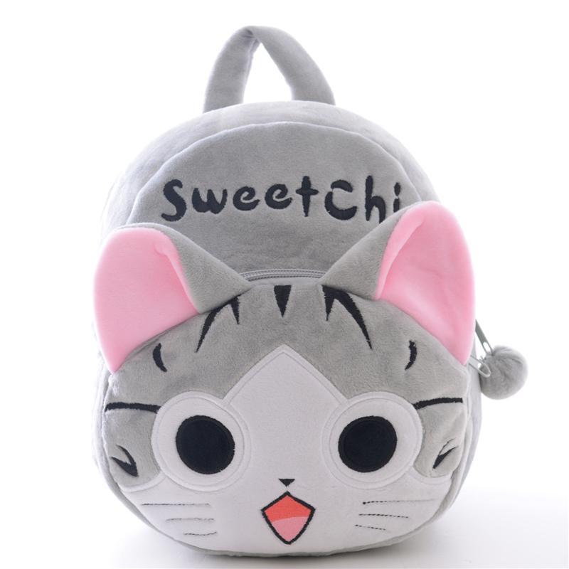 2018 2017 Baby Pink Cat Plush Cartoon Bags Kids Backpack Children