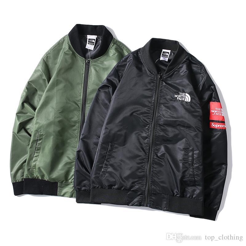 5b40f63279f Men Luxury Designer Winter Jackets Flight Pilot Jacket Windbreaker ...