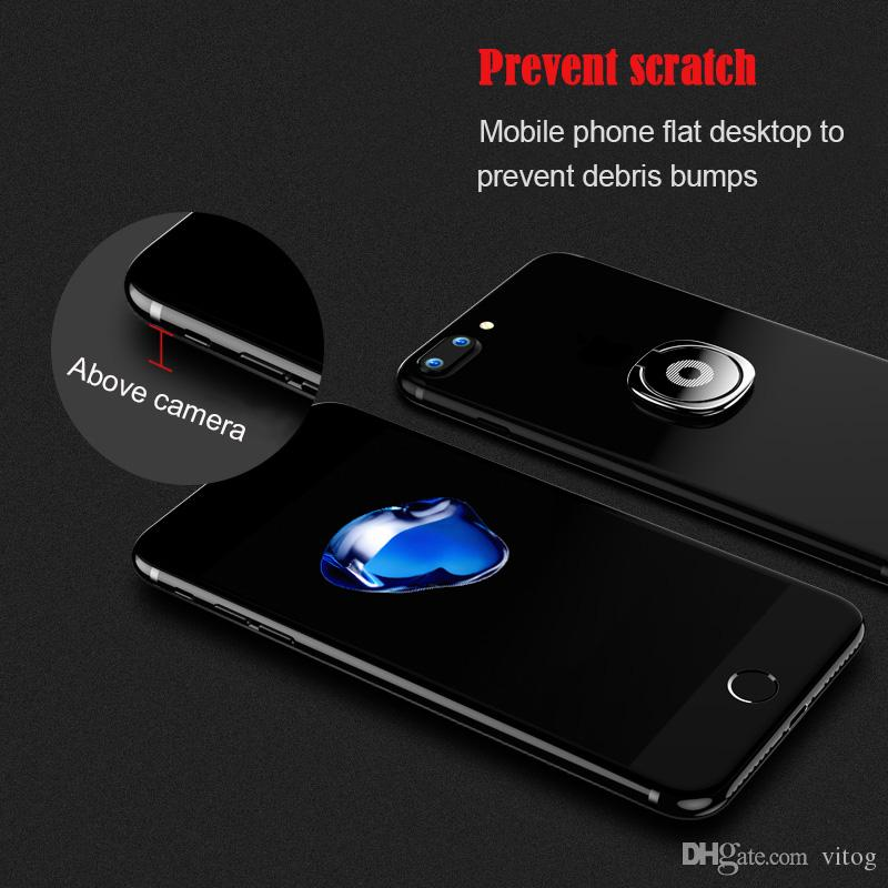 Yeni Lüks 360 Derece Metal Parmak Yüzük Tutucu Smartphone Cep Telefonu parmak Standı Tutucu ile iPhone 7 6 Samsung Tablet Için Paket