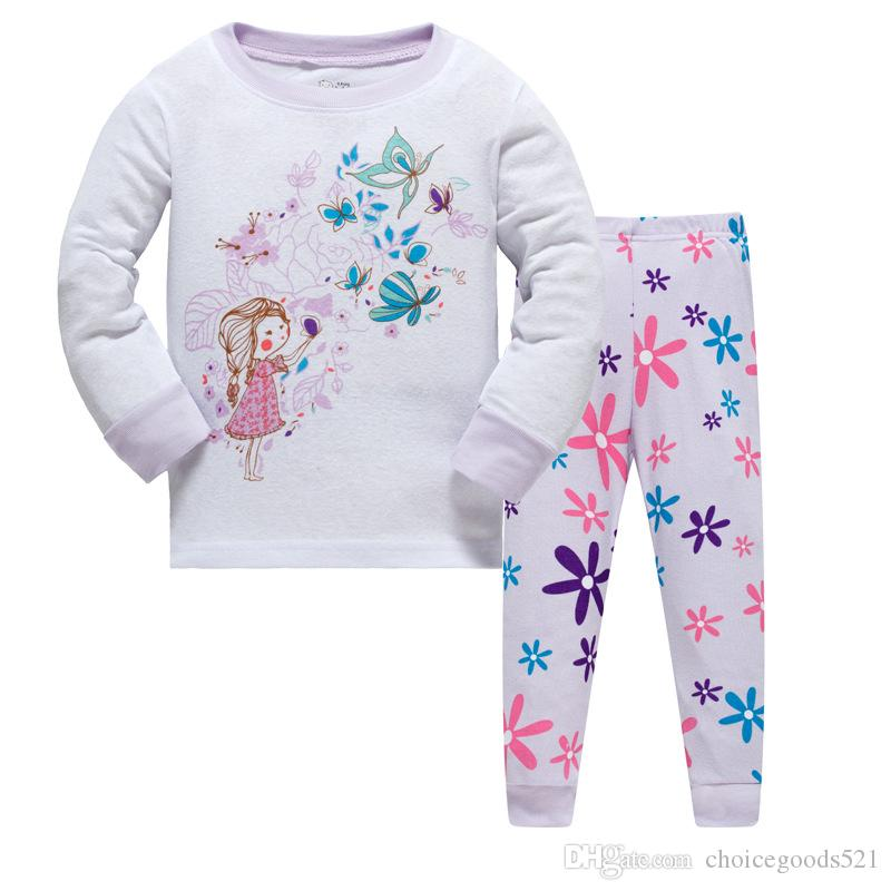 Kids Pajamas Girl Cotton Sleepwear Kids Unicorn Pajamas Unicorn Pattern Clothing Top+Pants Clothing pajamas for 1~7 years /l
