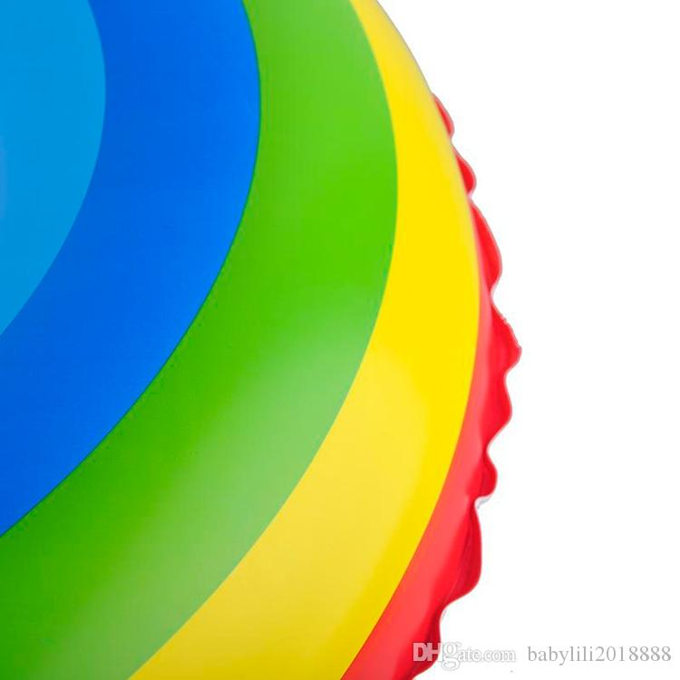 Adult Rainbow Inflatable Swimming Float Tube Ring Raft Pool Float Swim Ring Summer Water Fun Pool Toys
