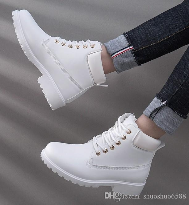 Hot Sell Winter Boots Women Shoes 2018 New British Wind Warm Students Flat  Women Snow Boots Fashion Martin Ankle Boots Wedding Shoes Dress Shoe Wedding  ... 242aa3e6df5b