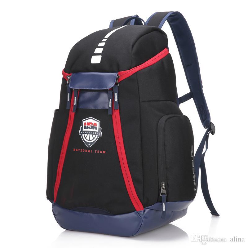 b49d820f249 New USA Bag Men Backpacks Basketball Bag Sport Backpack School Bag ...