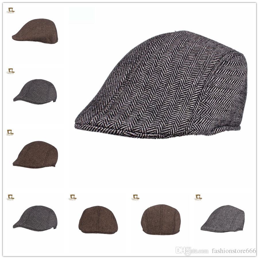 499fb163e4ee7 Compre Nova Boina Homens Gorras Planas Cap Boinas Masculinas Flat Caps  Chapéus Dos Homens De Fashionstore666