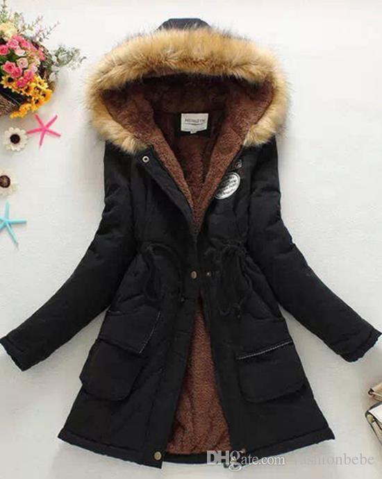 84dc90a3b 2018 New Parkas Female Women Winter Coat Thickening Cotton Winter Jacket  Womens Outwear Parkas for Women Winter
