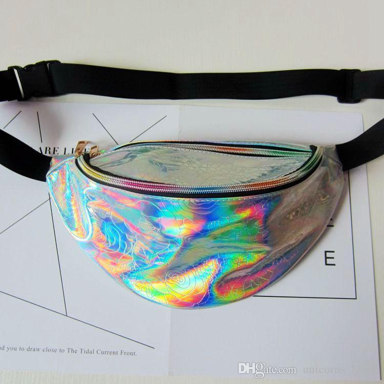 PU Fanny Paketi Hologram Lazer Bel Çantası Bel Göğüs Çantası Lazer Çanta Spor çanta 50 adet CNY231