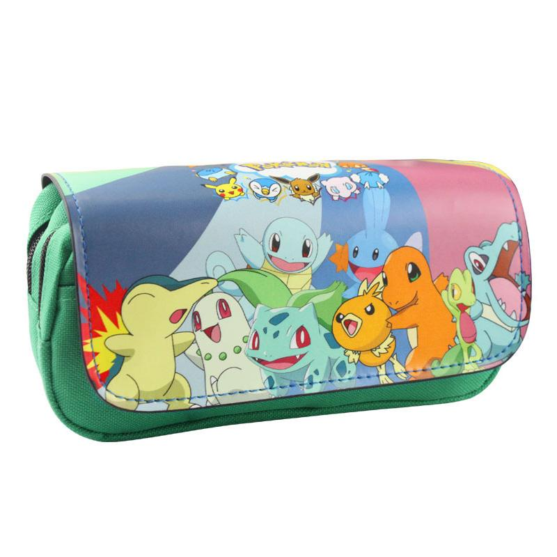 2017 Creative Japanese Pencil Case PU Leather Zipper Bag Students Stationery Office School Supplies Pen Pencil Wallets