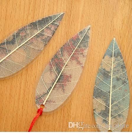 Mignon Classique Élégance Creative gland Marque Chinois vent naturel Collectibles feuilles veine Signets Creative Papeterie