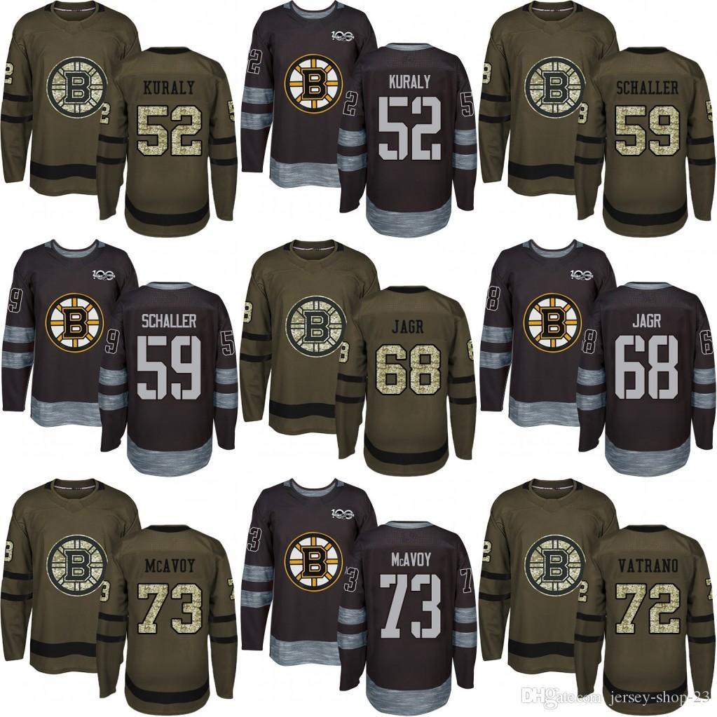 63b582f501c 2019 Men'S Custom 2018 Boston Bruins 59 Tim Schaller 68 Jaromir Jagr 72  Frank Vatrano 73 Charlie McAvoy Black Army Green Jersey From Jersey Shop  23, ...