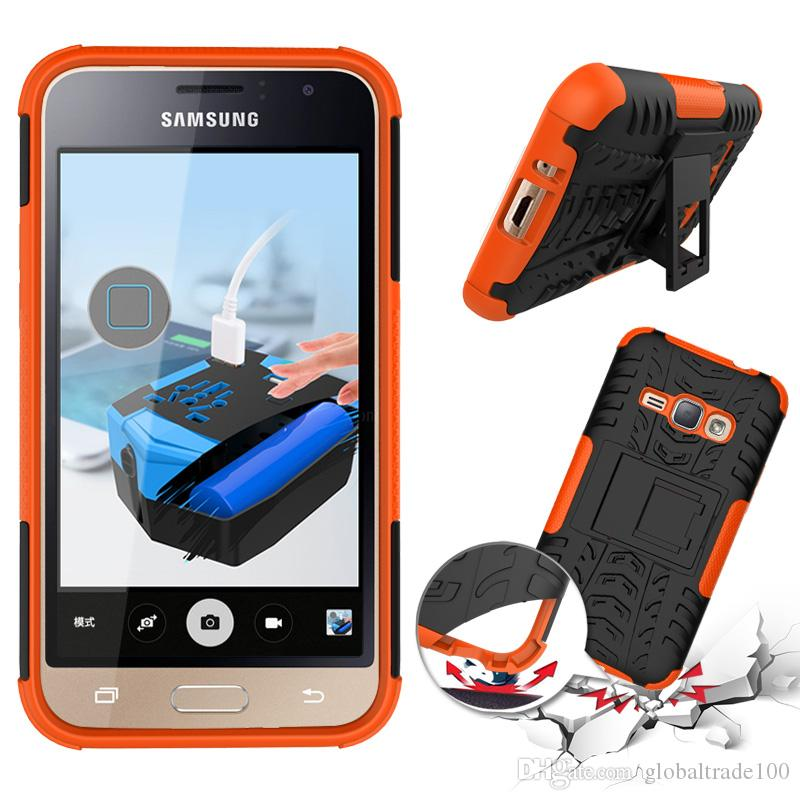 Rugged Armor Hybrid Kickstand Case For Samsung J7 Max J720 J710 J530F J510 J3 Pro J2 J1 Mini Prime Rubber PC TPU Cover
