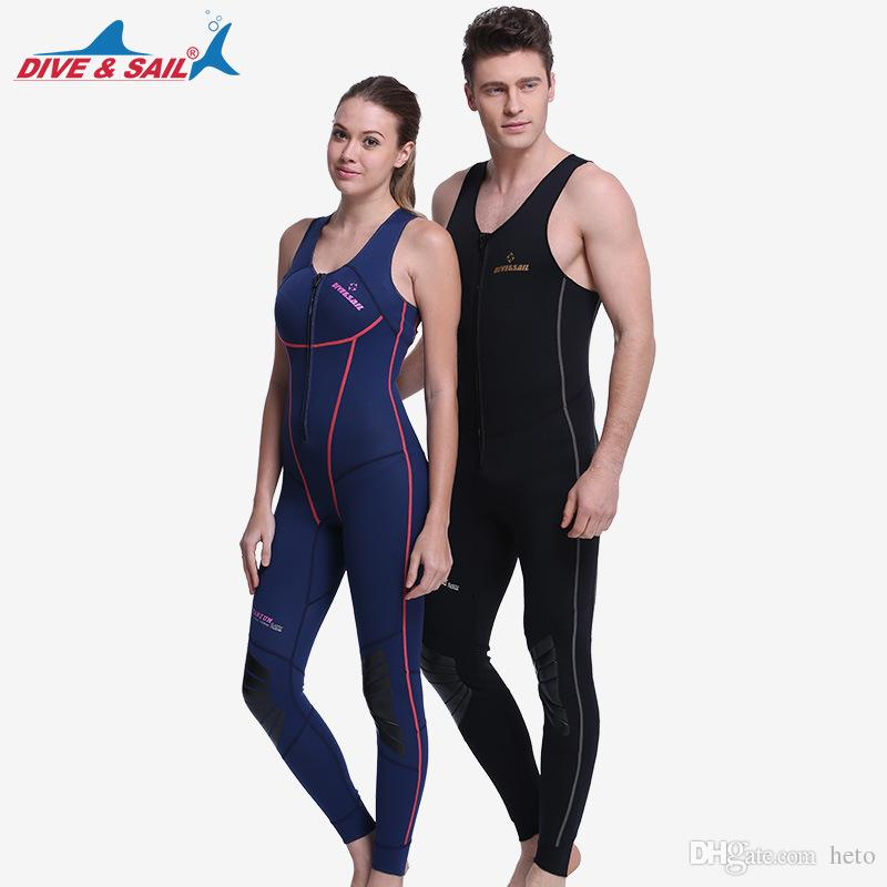 2019 Diving Suit 1MM Neoprene SCR One Piece No Sleeved Wetsuit For Men Women  For Surfing Anti Cold Scuba Diving Windsurf Swim Warm Skin Diving From  Heto a96ac35a0