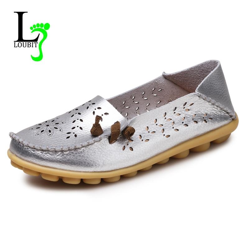 Spring Women Flats Hollow Comfortable Loafers Women Shoes Female ... 3970f7627447