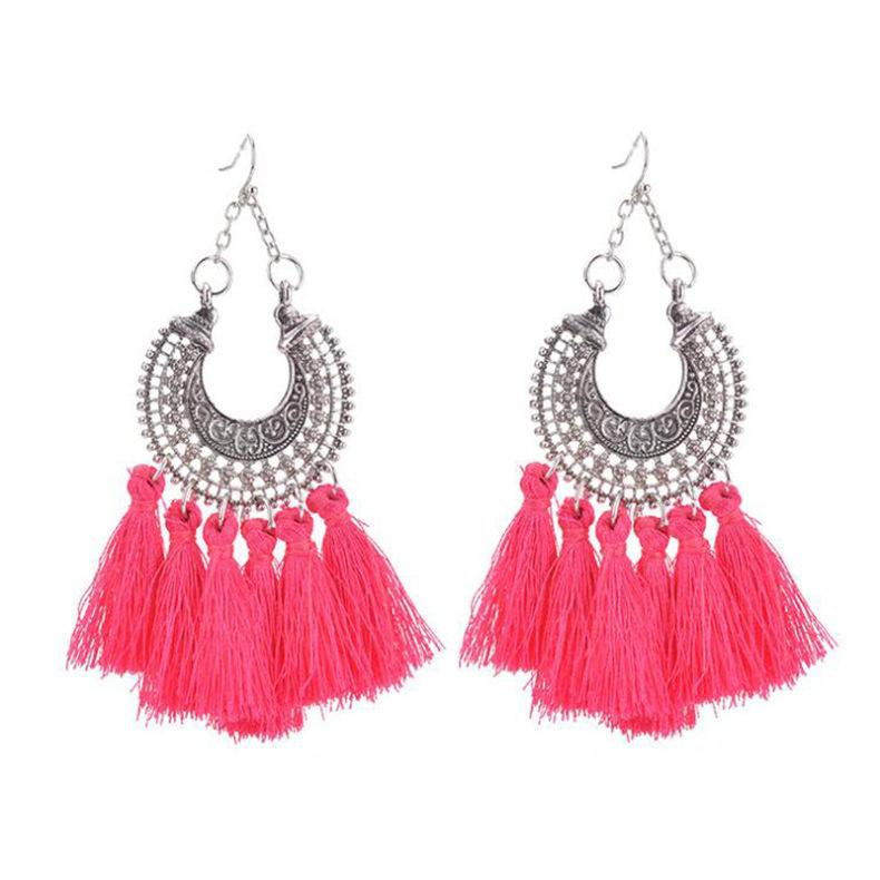 0d5d6ced4 2019 Bohemian Handmade Statement Tassel Earrings For Women Vintage Round  Long Drop Earrings Wedding Party Bridal Fringed Jewelry Gift From Wdshop,  ...