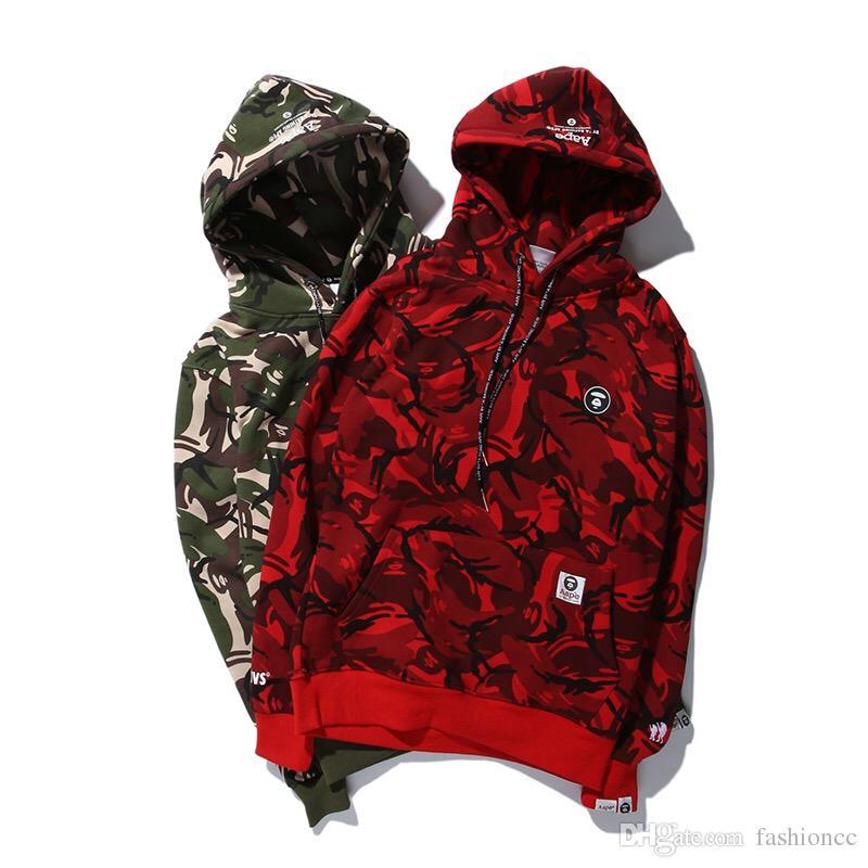 Großhandel Großhandels Pullover Ourwear Camouflage Jacken Mantel Männer Dünne  Schwarze Grüne Rote Camo Jacke Liebhaber Ourwear Mäntel Männer Kapuzenjacke  ... b1404d555c