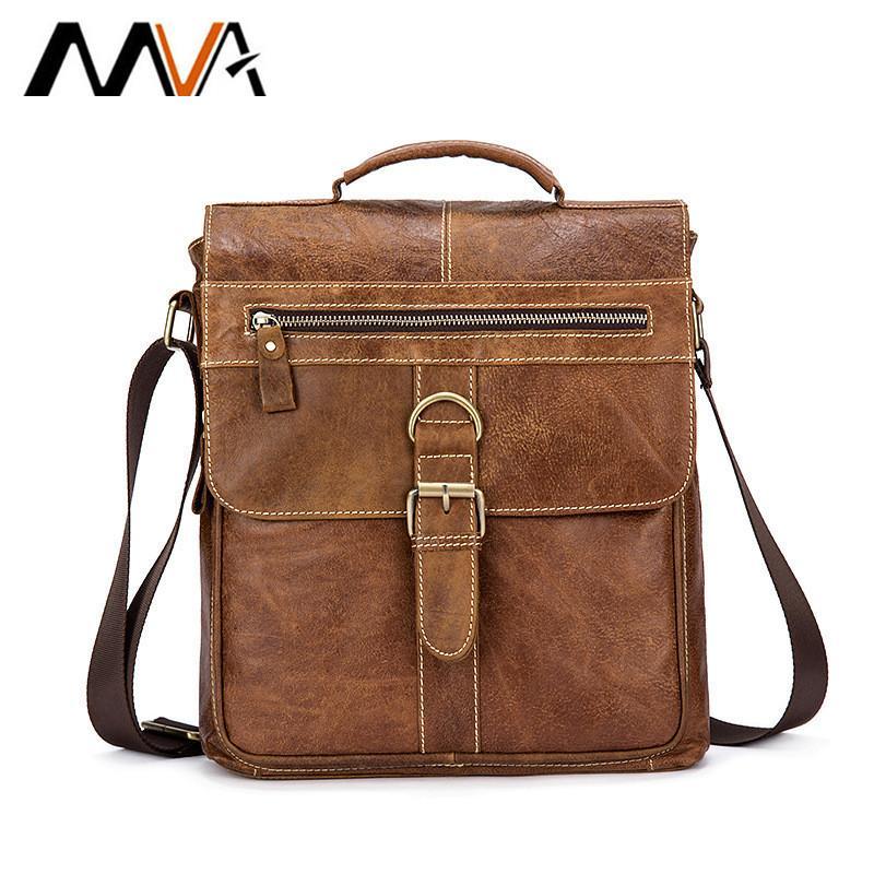 9ac46879327e MVA Messenger Bag Men Leather Shoulder Bag Male Genuine Leather Crossbody  Bags For Men Casual Top Handle Bags Hasp Ipad Flap Designer Handbags On Sale  ...