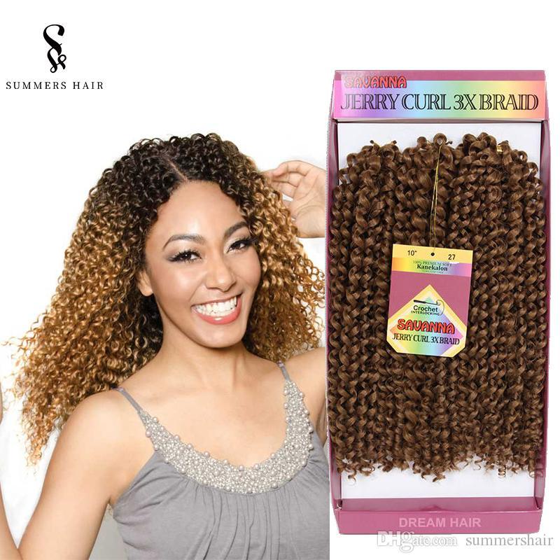 2019 Freetress Ombre Crochet Braids Hair Extensions 10inch Deep Wave