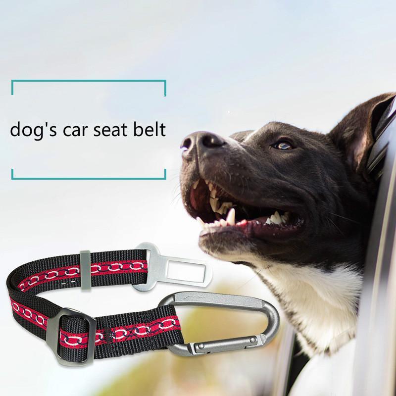 Dog Car Seat Belt Dog Chest Safety Strap Big Pet Car Adjustable ...