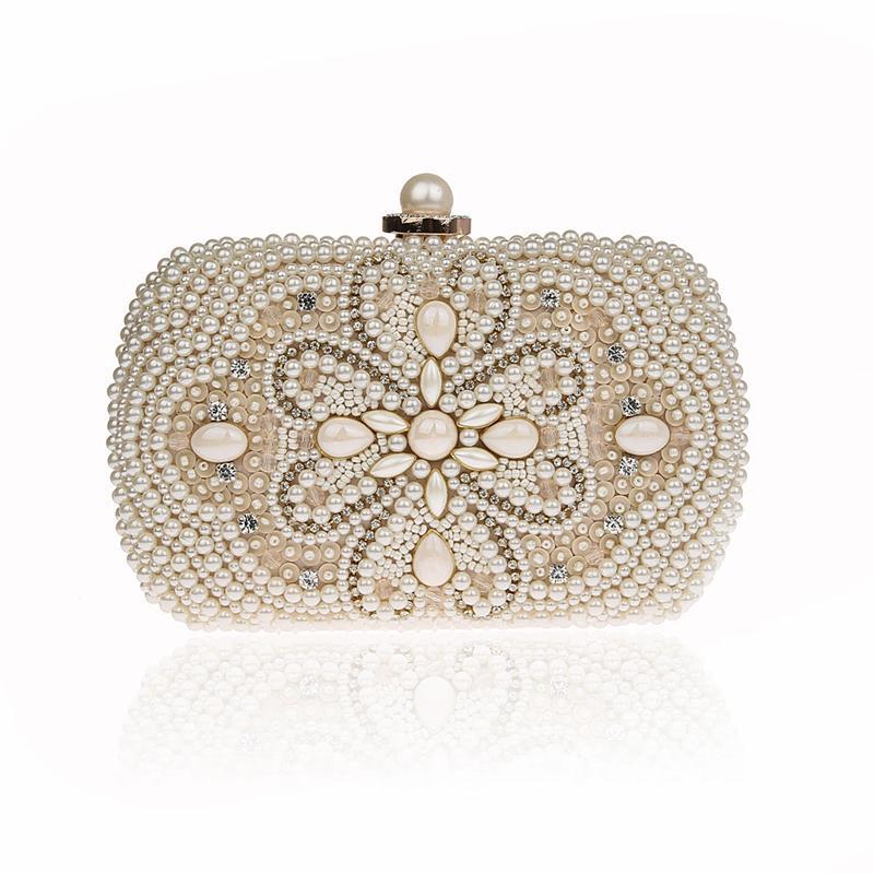 3a8ef2d0c Großhandel Diamant Perlen Abendtasche Strass Blumen Muster Kleine  Umhängetaschen Party Dressed Bankett Clutch Bag Bolsa Feminina Von  Lugudream, ...