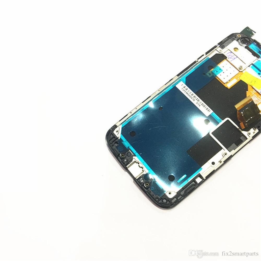 Moto X YENI LCD Ekran için 100% Test Çalışma Dokunmatik Ekran + Çerçeve Montaj DHL lojistik