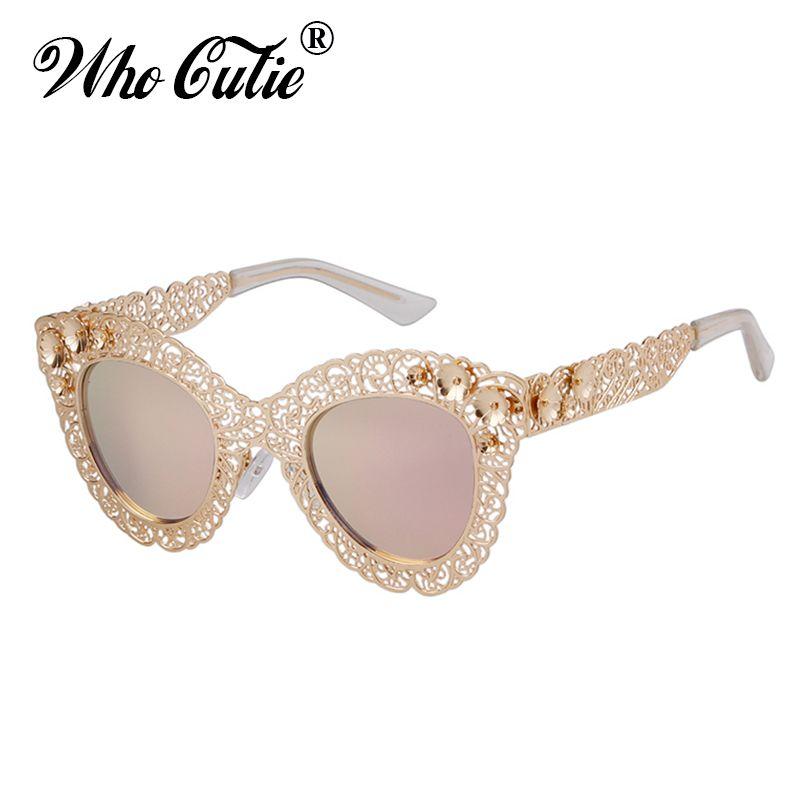 8a653344a2 Wholesale 2018 Luxury Oversized Cat Eye Sunglasses Women Brand Designer Retro  Vintage 80S Baroque Cateye Sun Glasses Shades 670 Boots Sunglasses Tifosi  ...