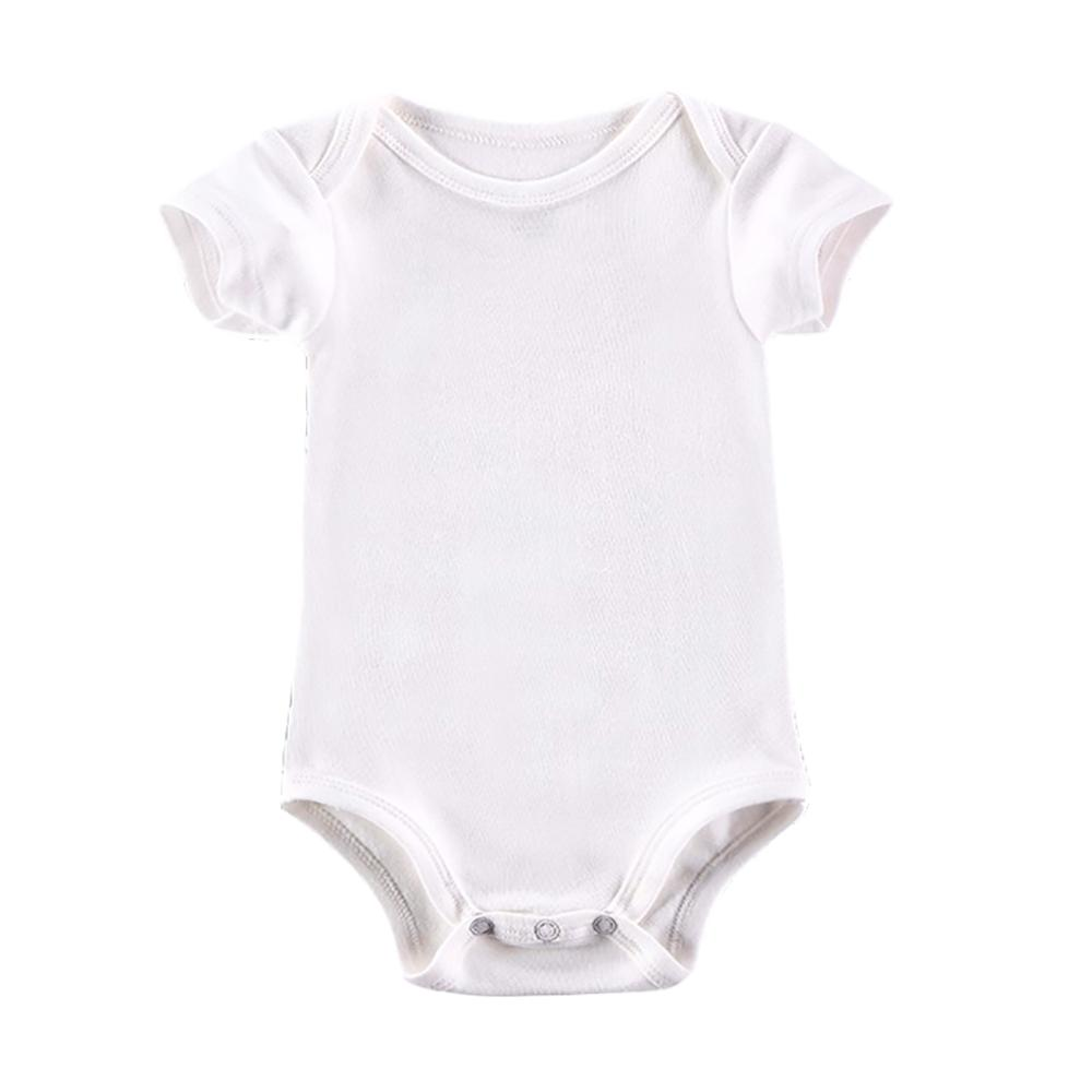 23eb28dba870 2019 White Baby Bodysuit Boy Girl Clothes Blank Unisex Newborn Baby Clothes  Short Sleeve Summer Clothing Set From Sophine14