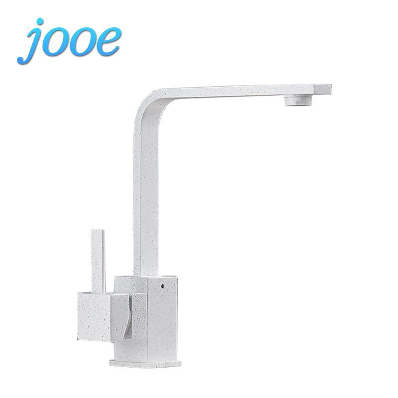 Best Jooe Quartz Stone Kitchen Faucet Hot&Cold Water Tap Copper ...