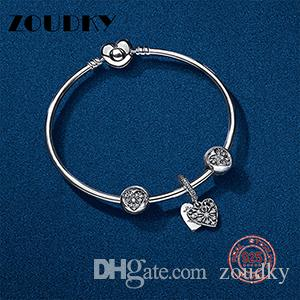 ZOUDKY Book Di 100% 925 Sterling Silver New winter suit Bracelet fit DIY Original charm Women's jewelry Free mail