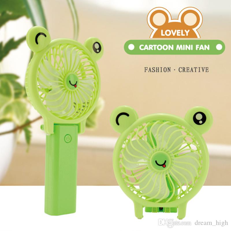 Portable Folding Fan Mini USB Rechargeable Fan Removable Rotating Handheld Outdoor Fans Pocket Fans Summer Air Cooler Kids Toys