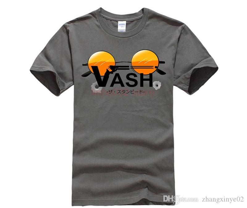 0364157a5fdc 2018 Latest Regular Fit Mens VASH Trigun T Shirts Custom Short Sleeved Eco  Cotton Manga Glasses Tee T Shirts Mens Online Shopping Tee Shirts Crazy T  Shirts ...