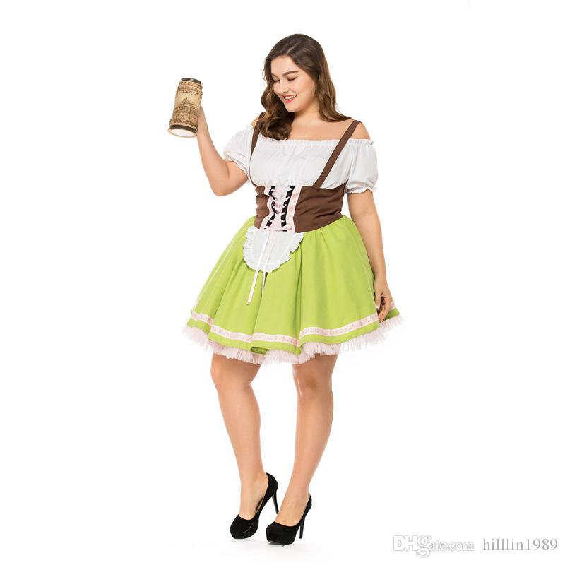 8226c5c9dc Women Large Size German Beer Maid Bavarian National Traditional Theme  Costume Sexy Cosplay Carnival Fancy Dress A Team Costume Dress Themes For  Parties From ...