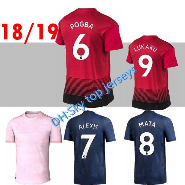 dc762af5b74 18 19 ALEXIS LUKAKU Fred Soccer Jerseys 2018 2019 Home Away MaN ...