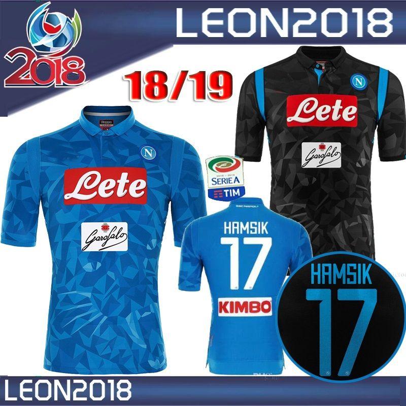 Compre TAMANHO S XXL 18 19 Napoli Camisa De Futebol 2018 2019 Em Casa Preto  Nápoles ZIELINSKI HAMSIK INSIGNE MERTENS CALLEJON Camisas De Futebol Camisa  De ... 51e493310acea