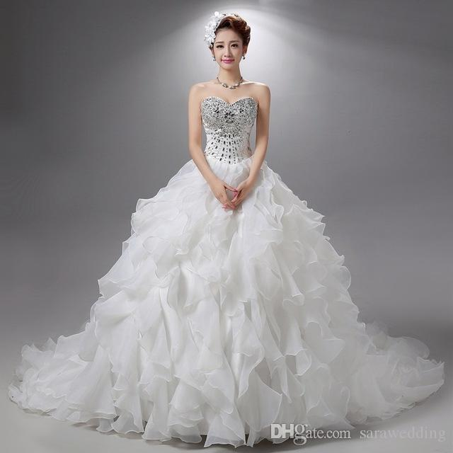 Discount Beaded Crystal Ball Gown Wedding